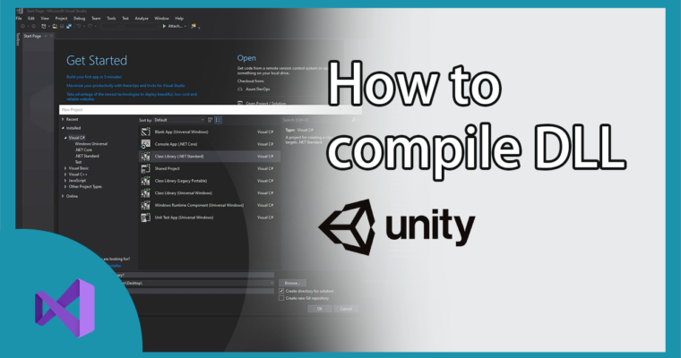 How to create DLL for Unity with Visual Studio